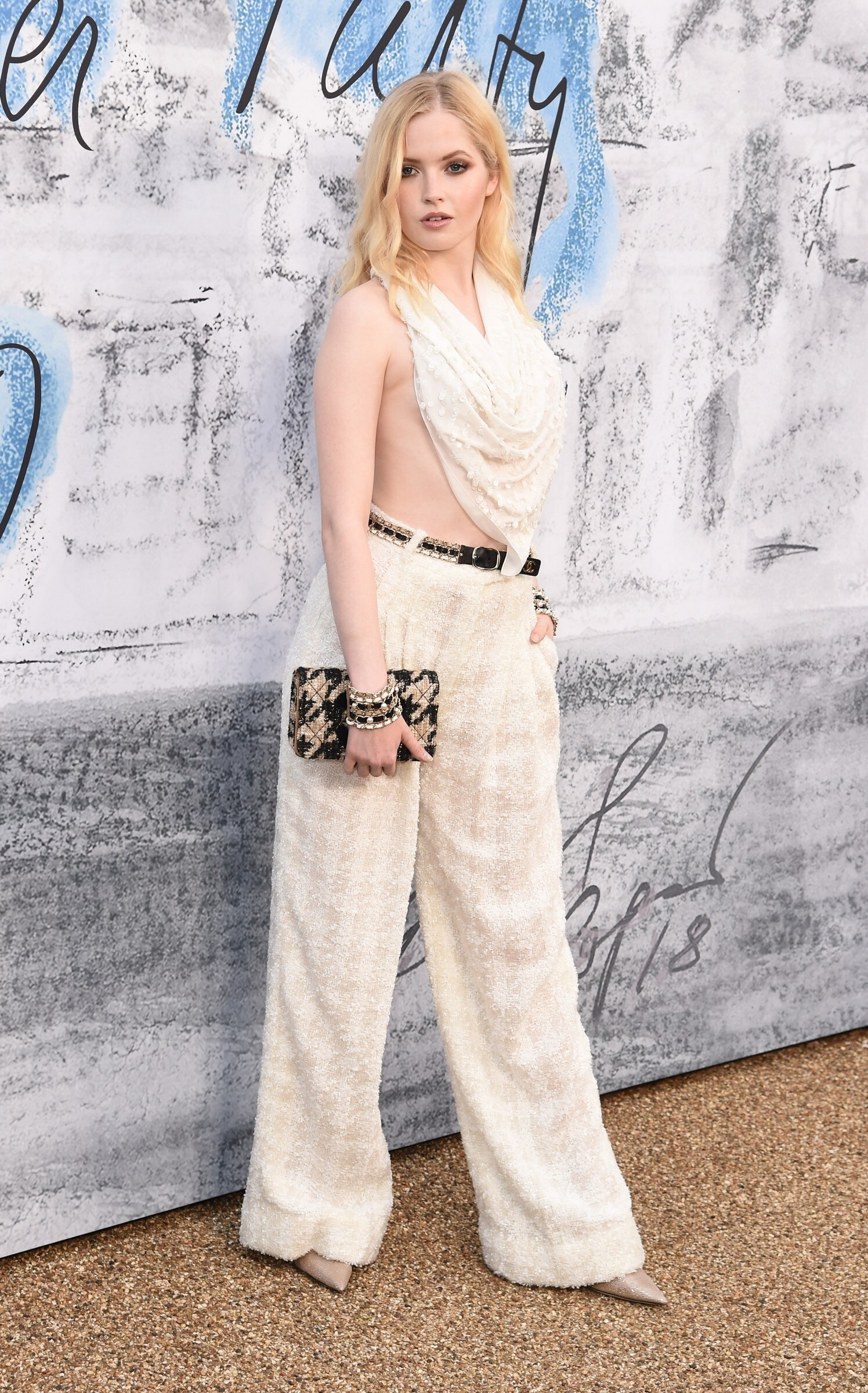 Ellie Bamber At Sarpentive Gallery Summer Party In London