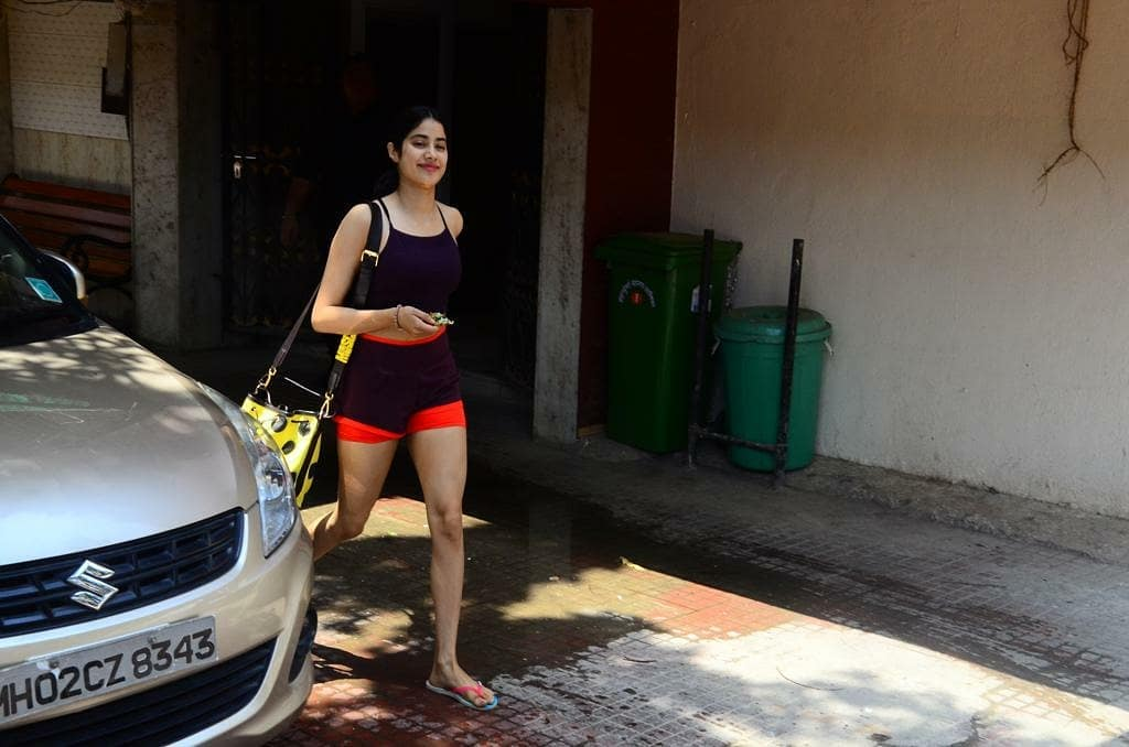 Janhvi Kapoor In Sexy Shorts Showing Her Thighs