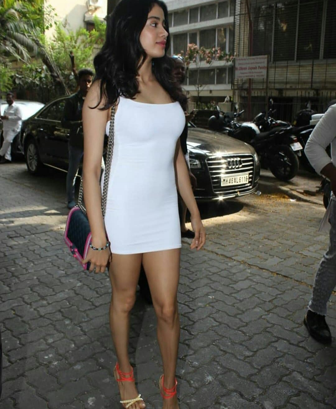 Janhvi Kapoor Spotted In A Sexy White Dress At Bandra