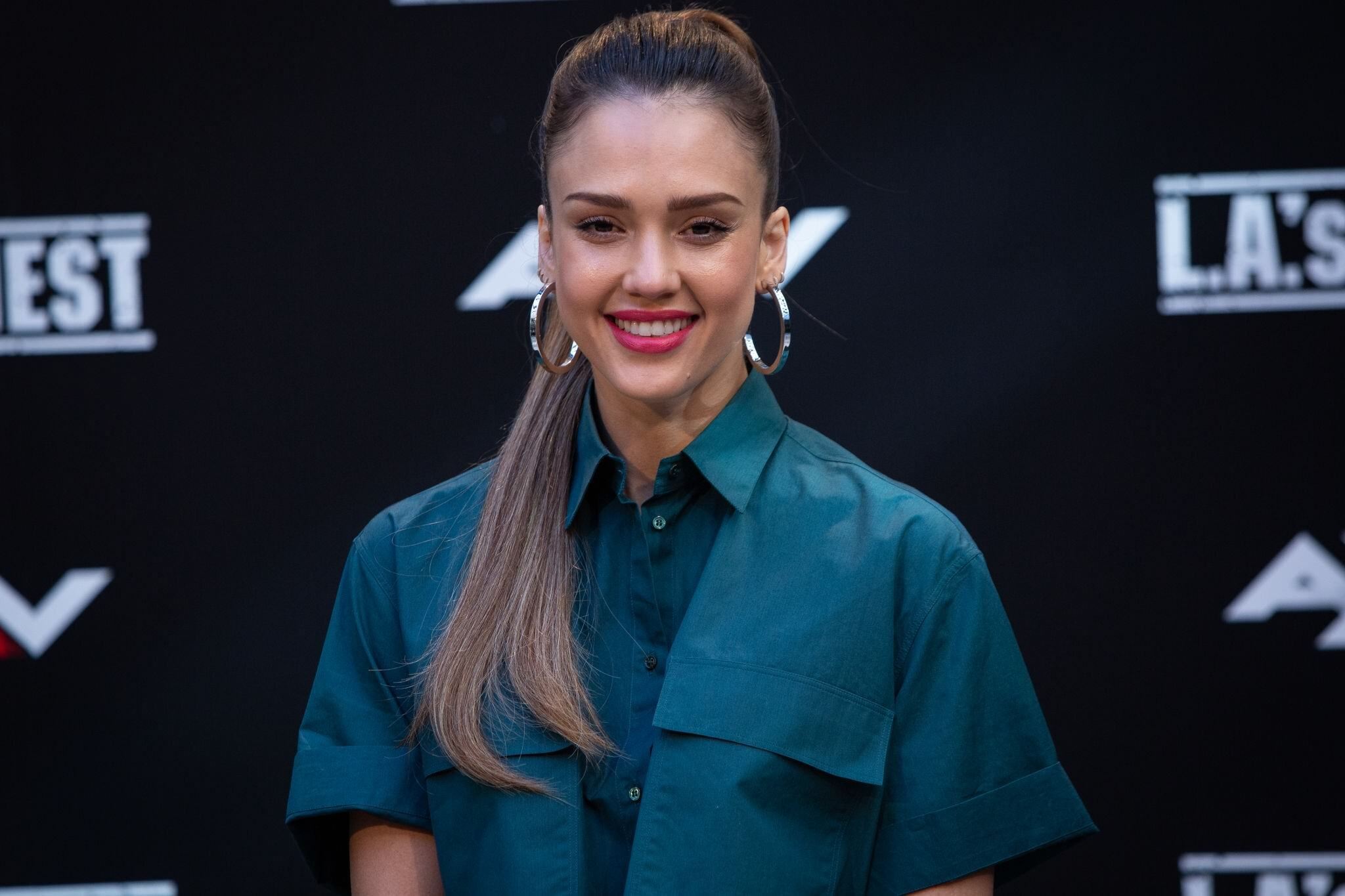 More than 30 Photos of Jessica Alba At LA's Finest Photocall Shoot In Madrid