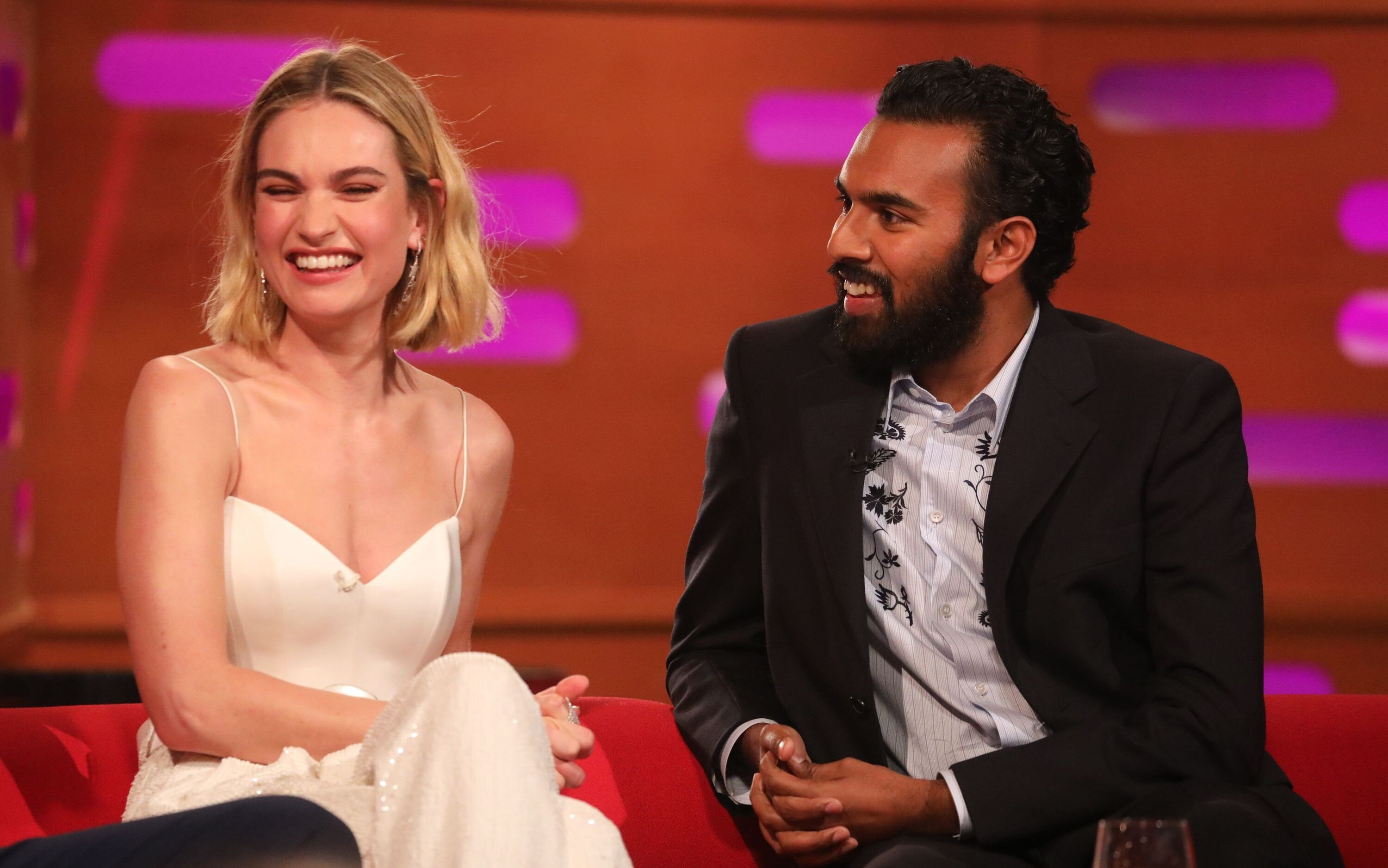 Lily James At The Graham Norton Show In London