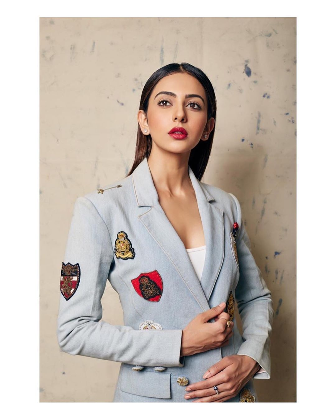 Rakul Preet In A Funky Coat While Posting For A Photo Shoot