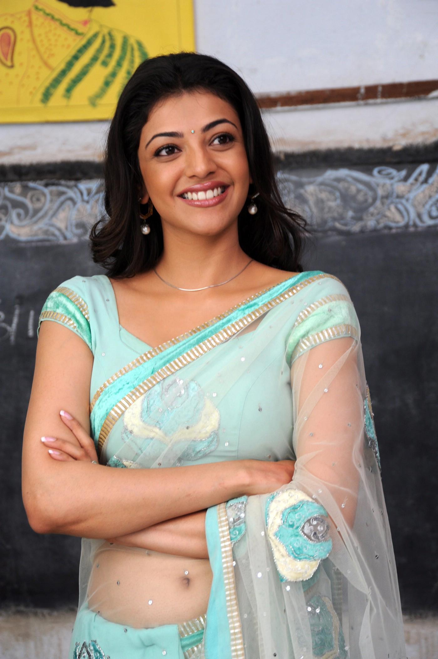 Rare Photos Of Kajal Aggarwal Showing Her Hot Curves In Saree