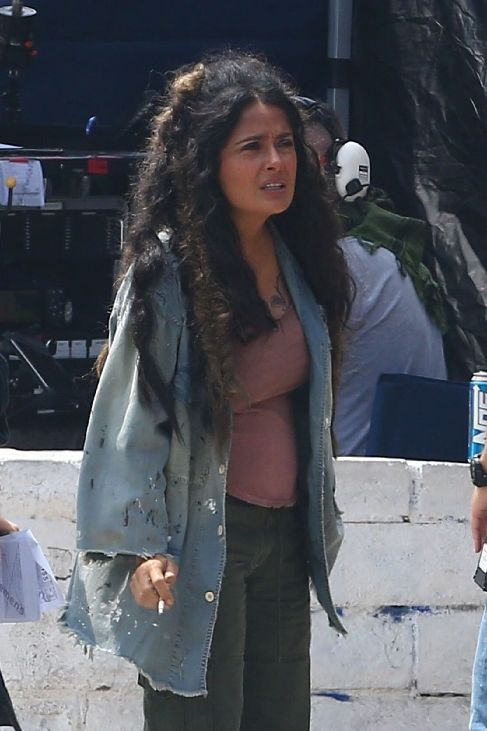 Salma Hayek On The Sets Of BLISS In Los Angeles