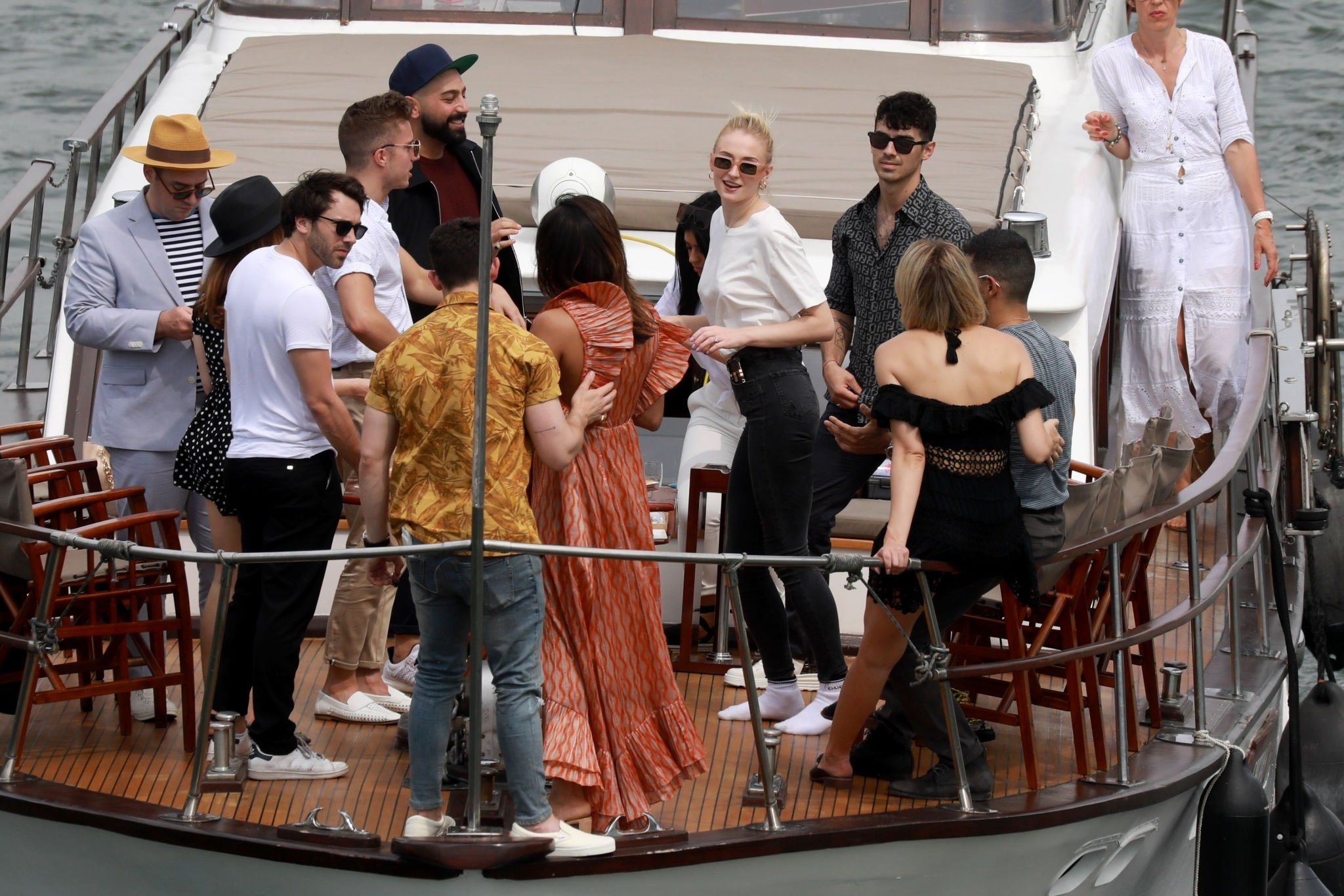 Sophie Turner And Priyanka Chopra Are Seen On A Boat Cruise On The River Seine Set 2