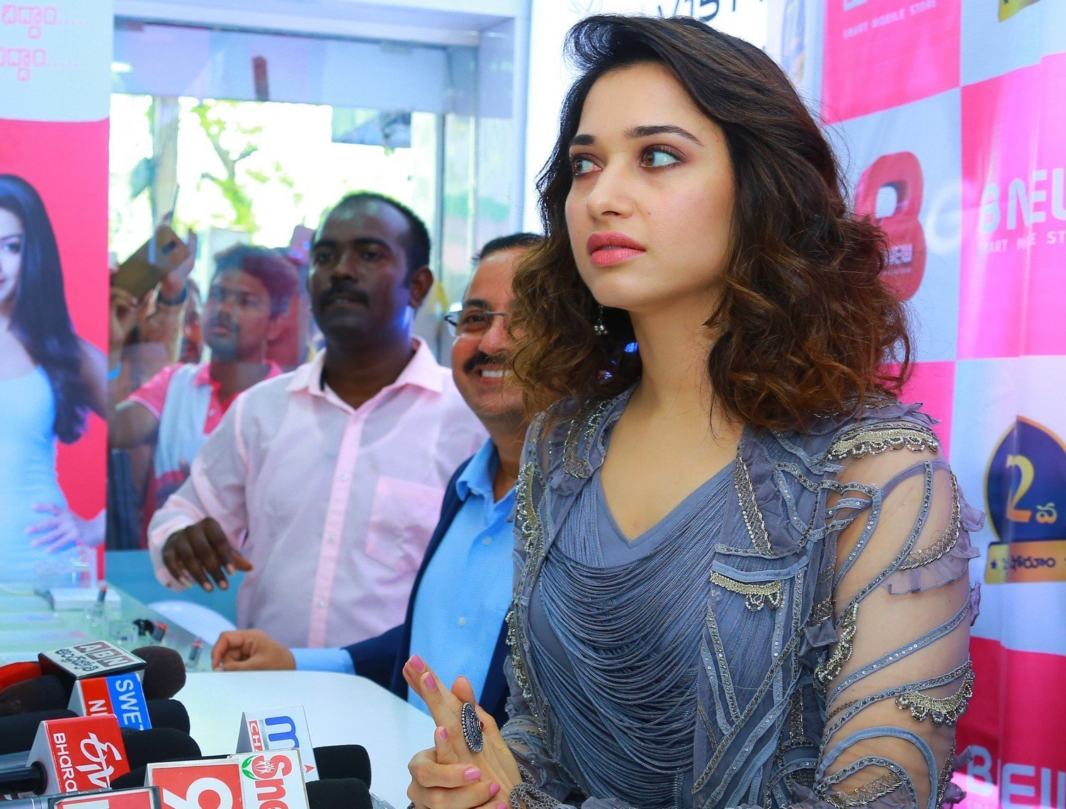 Tamannaah Bhatia Launches B New Mobile Store At Karim Nager Set 1