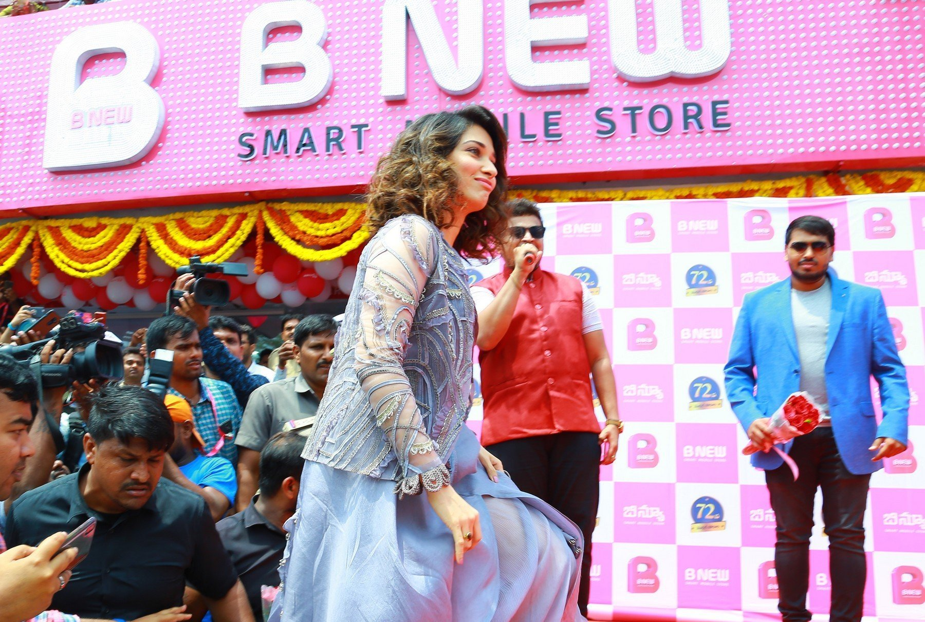 Tamannaah Bhatia Launches B New Mobile Store At Karim Nager Set 3