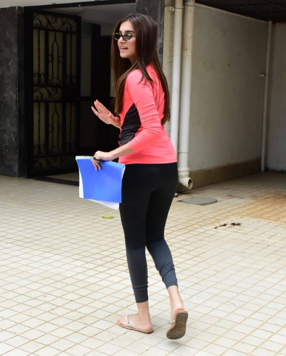 Tara Sutaria In Tight Dress Spotted Outside Director Anurag Kashyap Office
