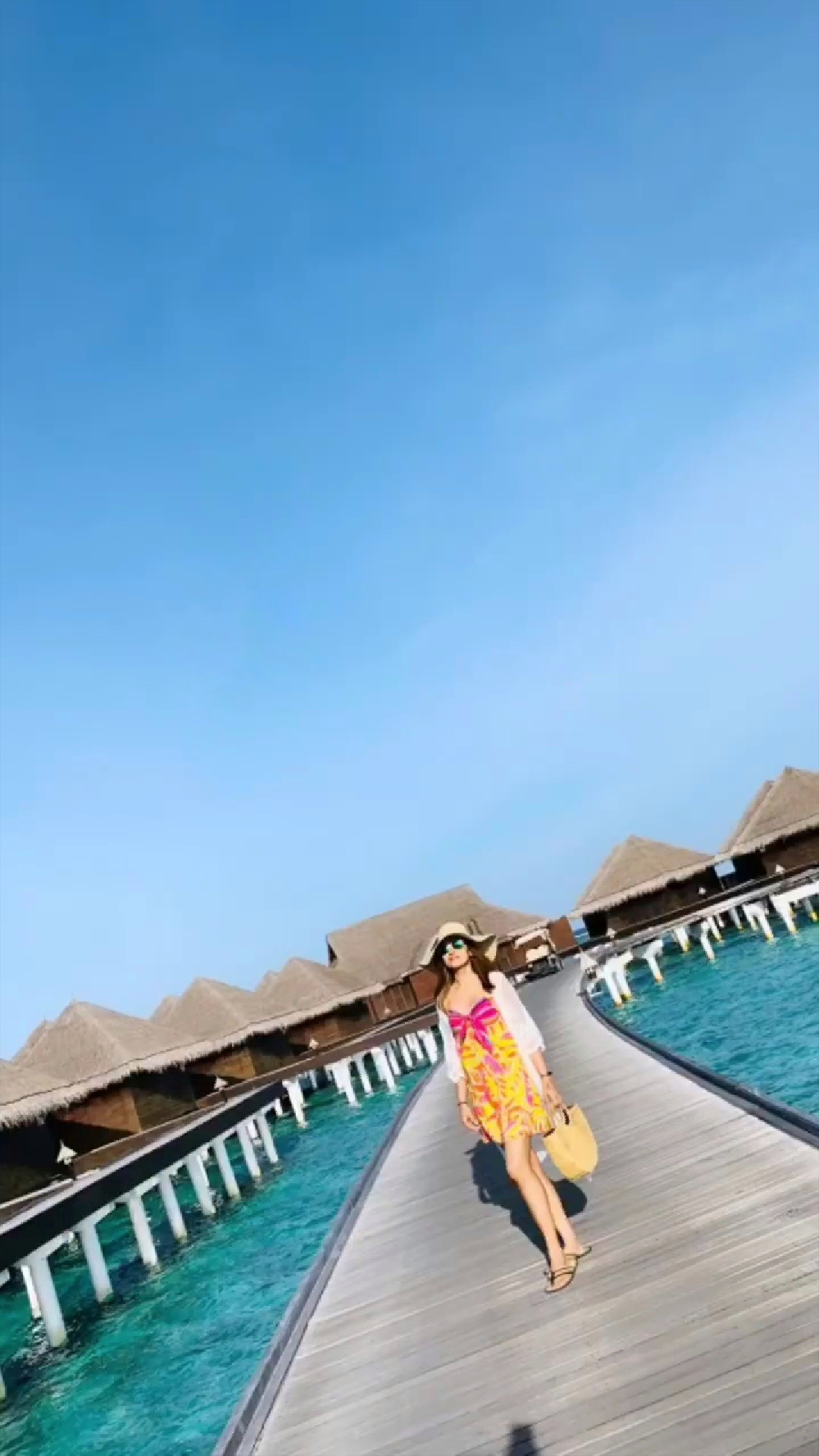 Trisha Hot In Swimsuit And Enjoying Her Vacation In Maldives