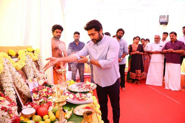 Actor Suriya New Movie Opening Photos