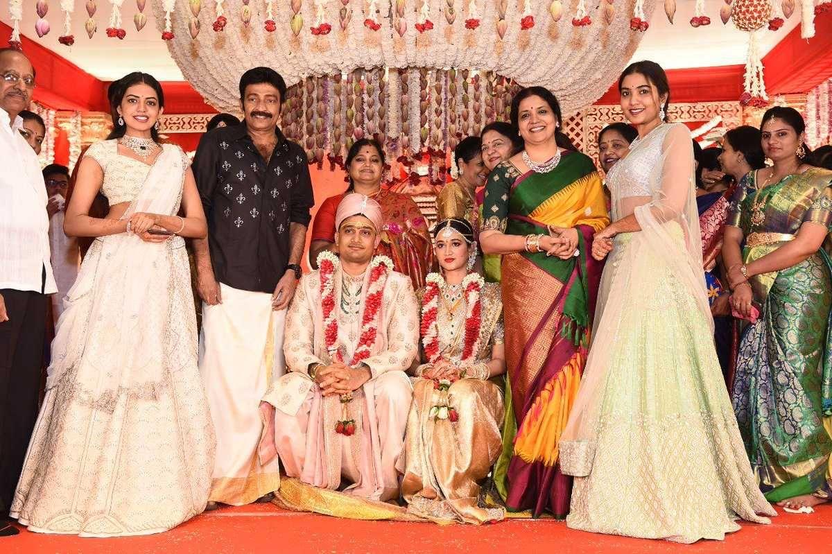 Dr Rajasekhar Nephew Karthik Wedding Pics