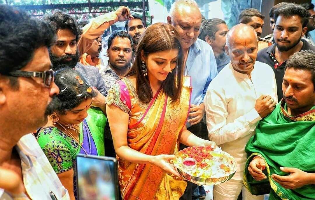 Kajal Aggarwal at LLK Mall inauguration Tirupati