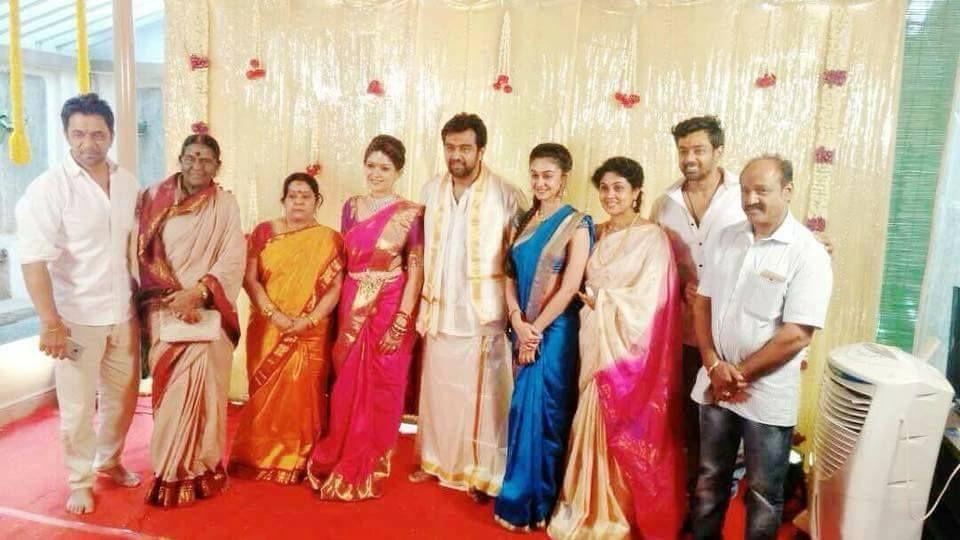 Meghana Raj & Chiranjeevi Sarja Engagement Photos