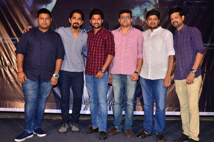 Nani & Siddharth at Gruham Movie Trailer Launch