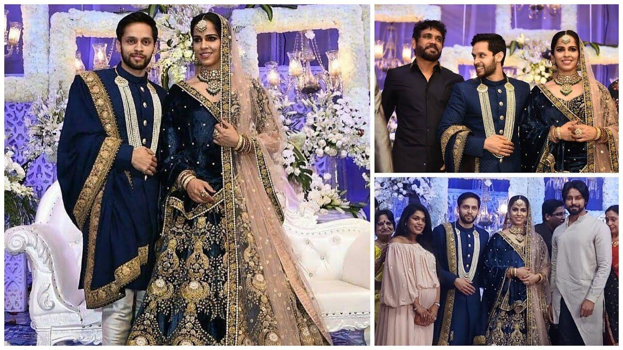 Saina Nehwal Parupalli Kashyap Wedding Reception Photos