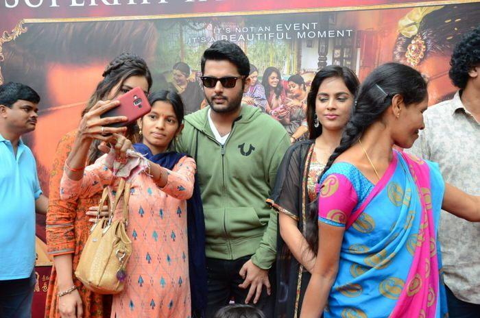 Srinivasa Kalyanam Movie team visits Arjun Theater Photos