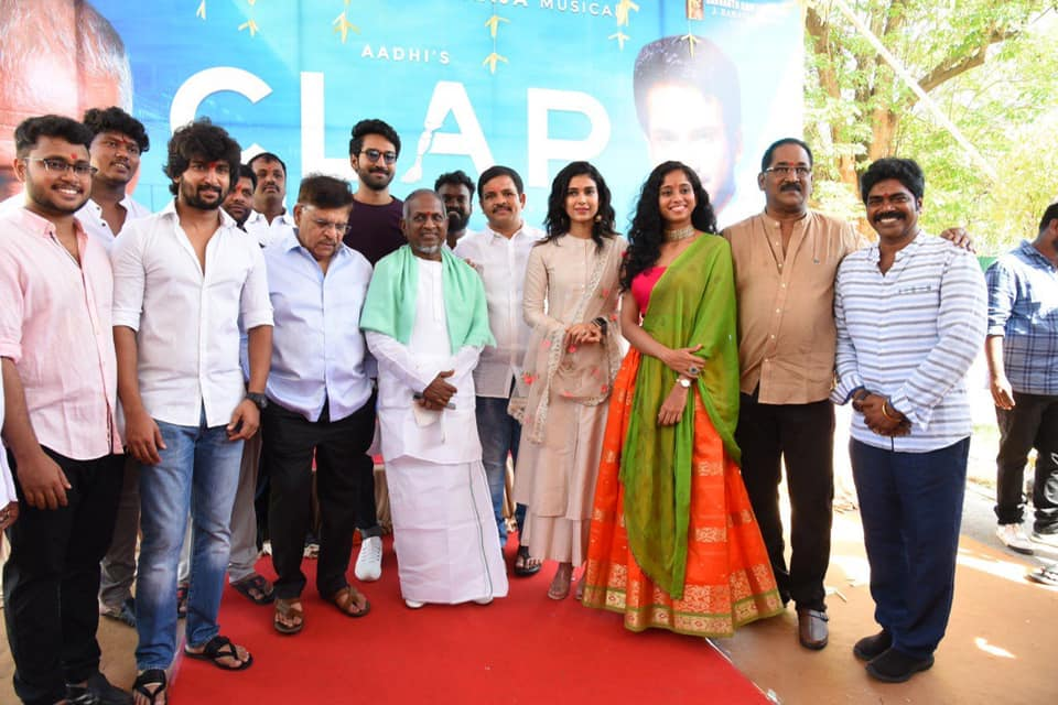 Aadhi Bilingual Sports Film Clap Launched