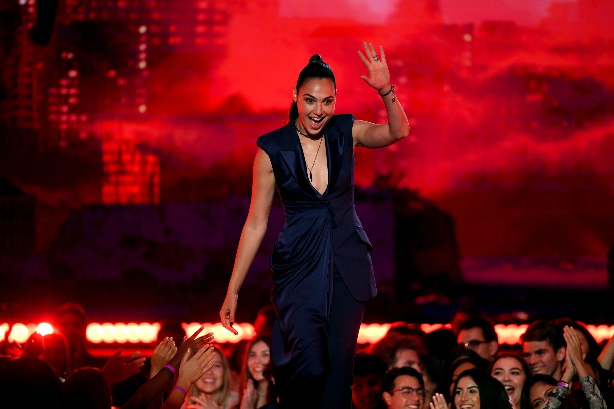 Gal Gadot At MTV Movie And TV Awards In Santa Monica