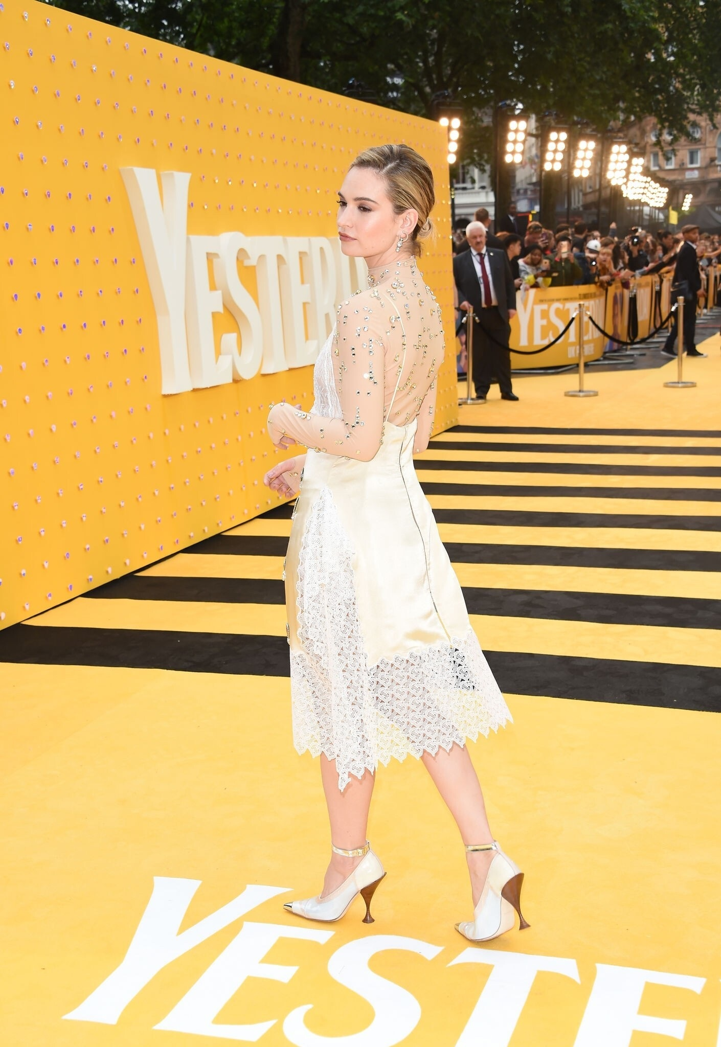 Lily James At The Premiere Of Yesterday In London