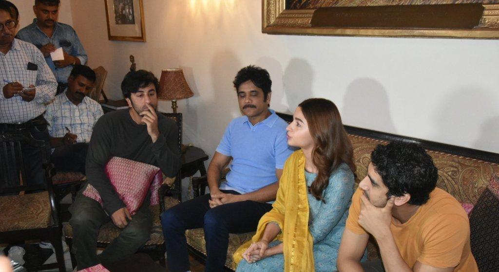Nagarjuna, Alia, Ranbir At The Press Conference Of Brahmastra Movie