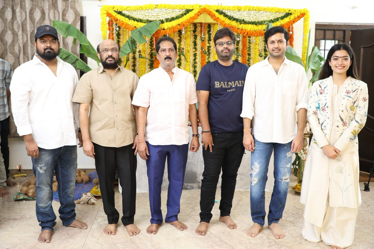 Rashmika Mandanna And Nithiin Starrer Bheeshma Pooja Launch Happened Today