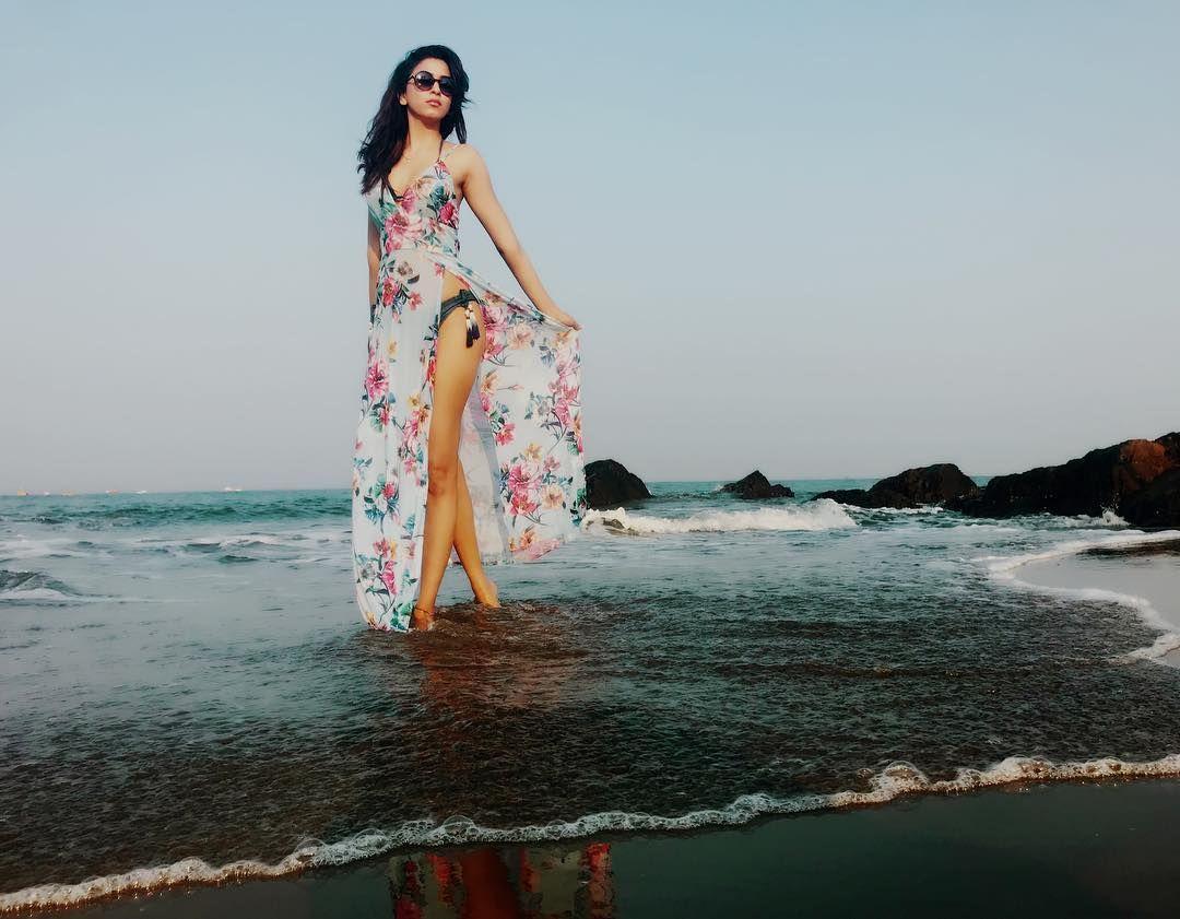 Actress Eshanya Maheshwari Hot Bikini Photoshoot Stills