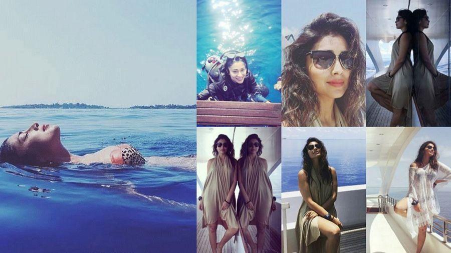 Shriya Saran Vacation at Maldives Unseen Hot Bikini Pics 2017