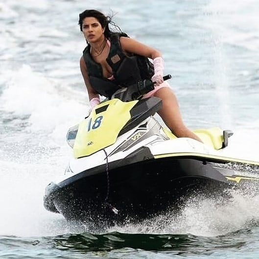 Priyanka Chopra Hot Bikini Show In Beach