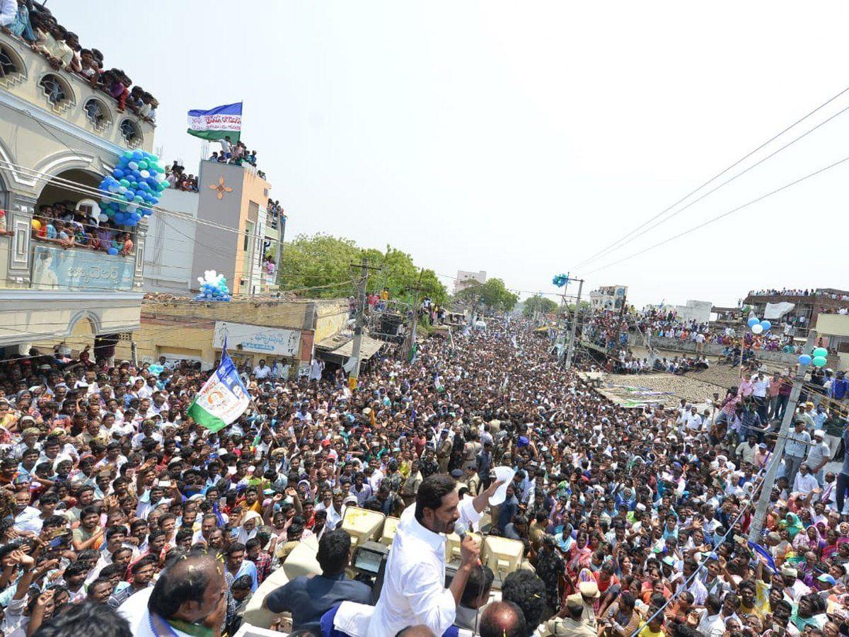 YS Jagan in Santhanuthalapadu public Meeting Photos