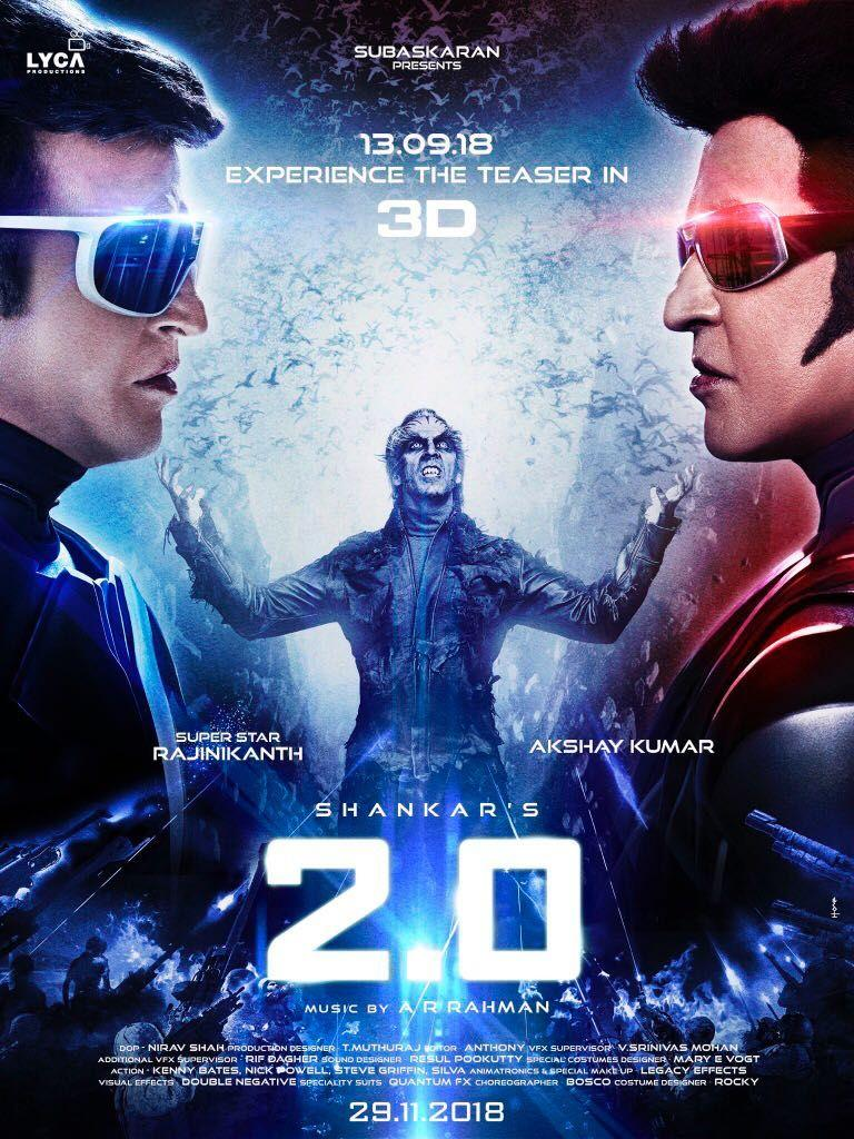 2Point0 Movie New Teaser Release Date Posters & Stills