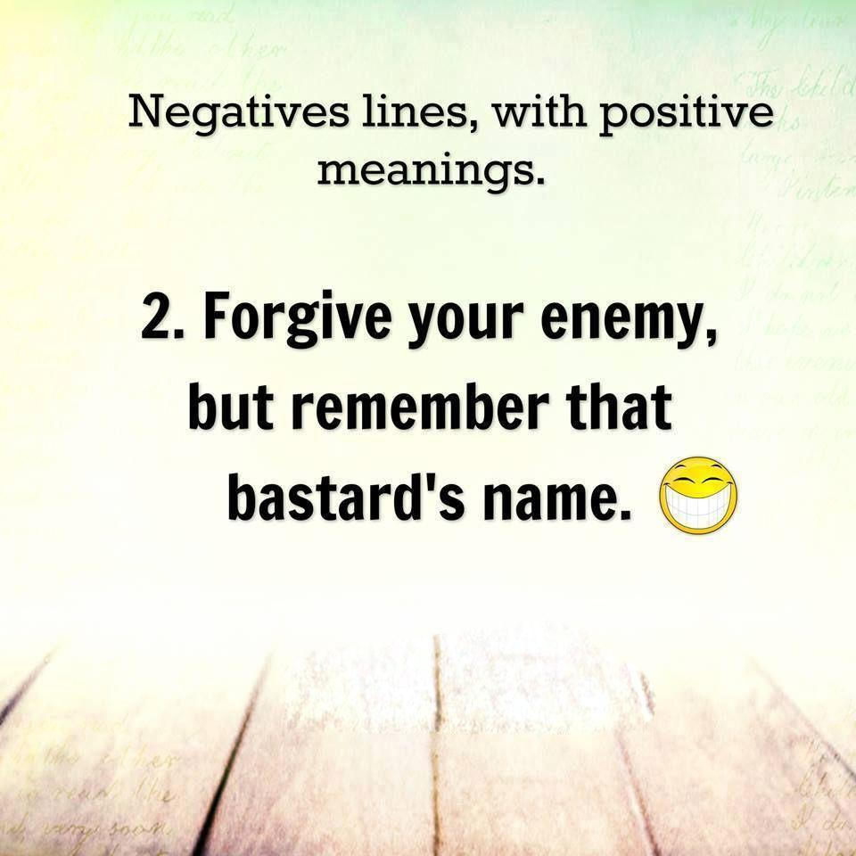 6 Negative lines with Positive Meanings