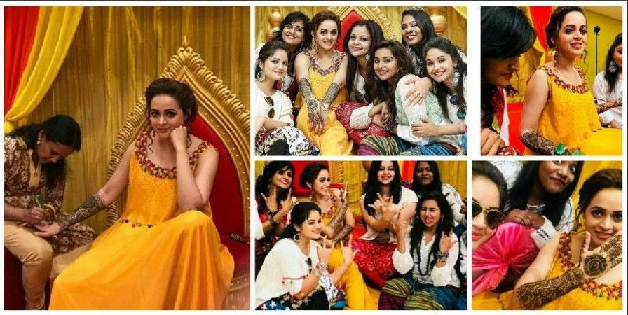 Actress Bhavana Mehndi Function Photos