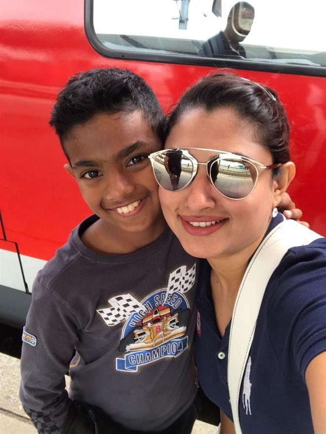Actress Malavika Family Trip Unseen Photos