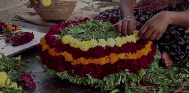 Bathukamma Telangana Flower Festival Pics
