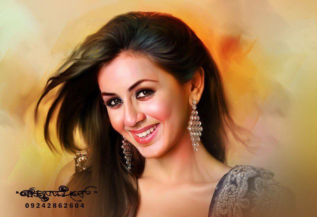 Beautiful Digital Painting of TOP Celebs By Chitthararamesh