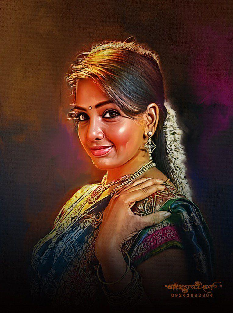 Best Digital Fashion Magazines: Beautiful Digital Painting Of TOP Celebs By Chitthararamesh