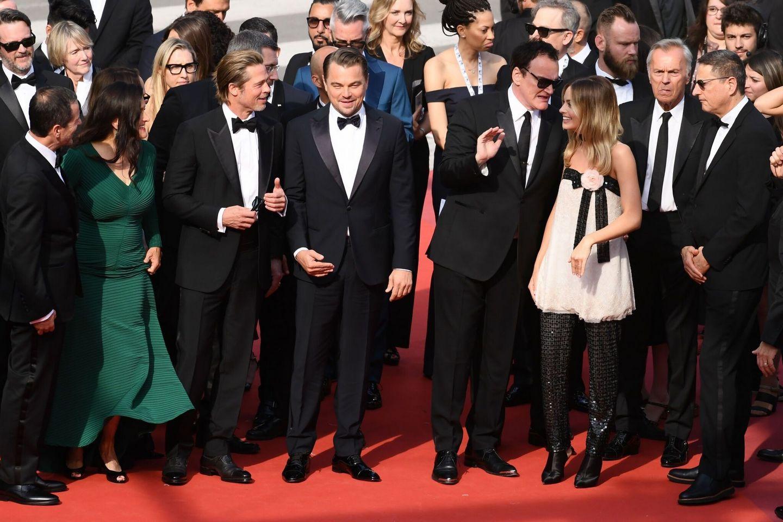 Bradd Pitt and Leonardo DiCaprio and Quentin Tarantino and Margot Robbie Photos