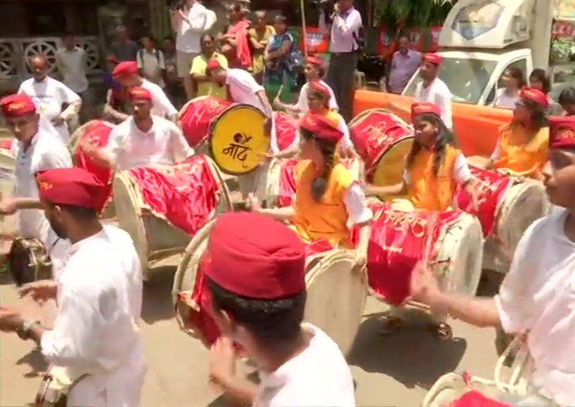 Celebration Photos outside BJP Office
