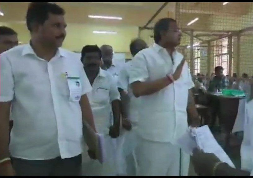 Congress leader Karti Chidambaram leading from Sivagangai