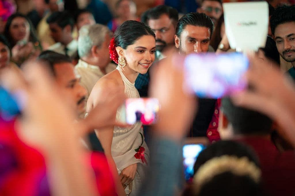 Deepika and Ranveer at wedding