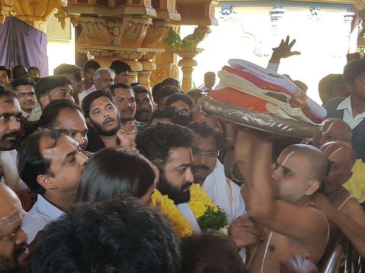 EXCLUSIVE: Young Tiger NTR at Bhadrachalam Temple Photos