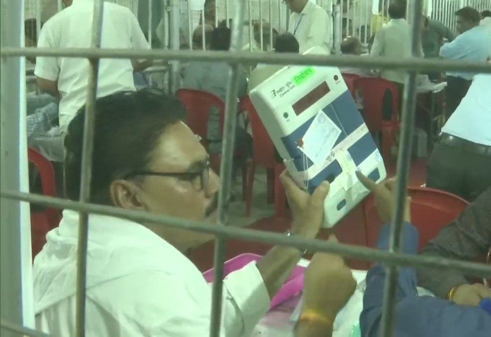 Inside vote counting center at Bhopal
