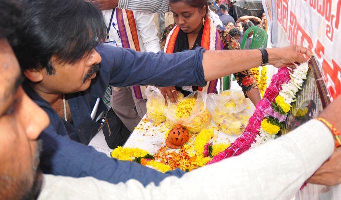 Pawan Kalyan Meets DCI Employee's at Vizag Photos