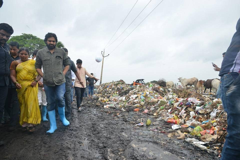 JanaSena Chief Shri Pawan Kalyan Garu Visited Dumping Yard in Bhimavarm