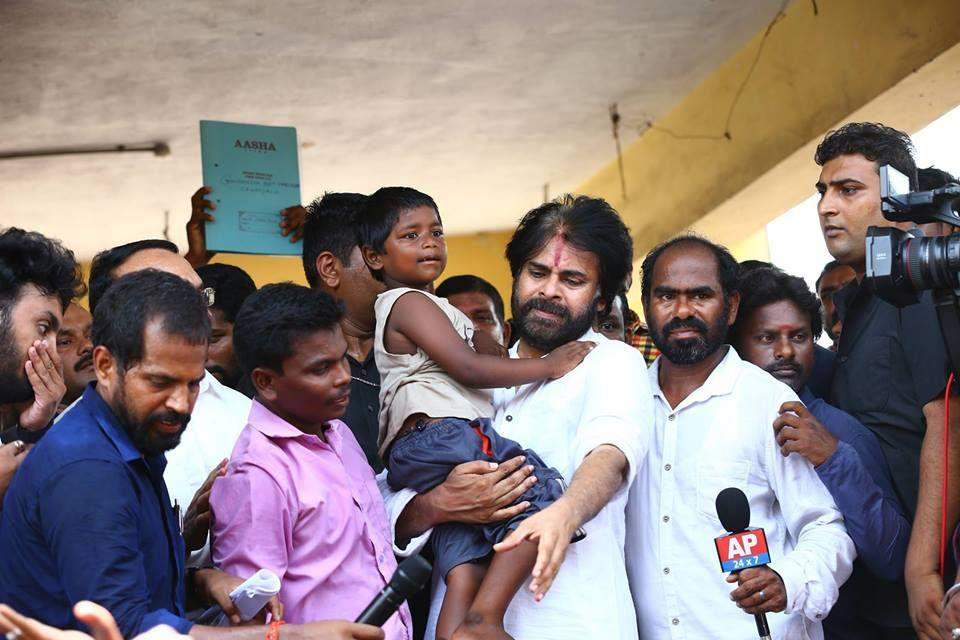 JanaSena Party Chief Pawan Kalyan at Gangavaram Photos