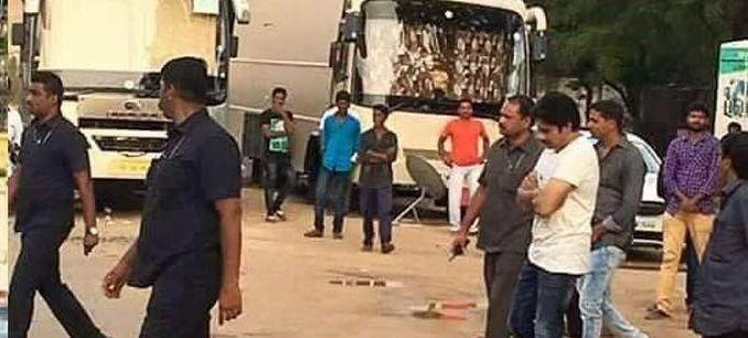 LEAKED: Shooting Spot Stills from Agnathavasi Movie Goes Viral