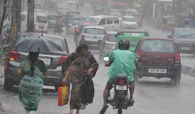 PHOTOS: Heavy overnight rains affect normal life in Hyderabad