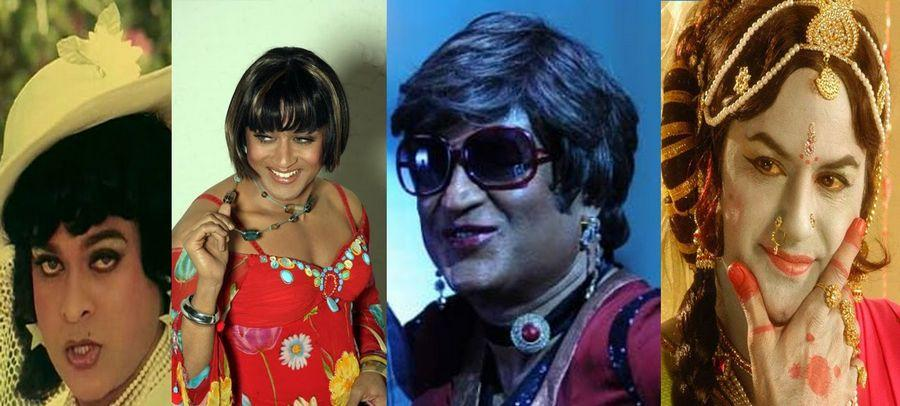 PHOTOS: INDIAN ACTORS DRESSED in LADY GETUP