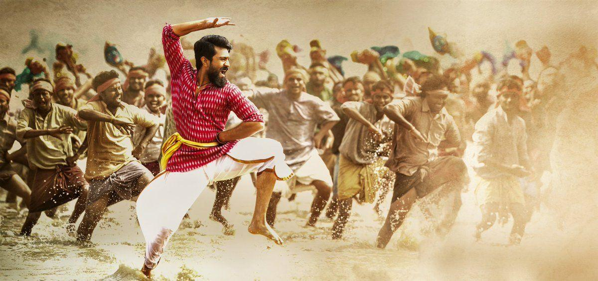 Ram Charan Rangasthalam 1985 Movie New Posters & Working Stills