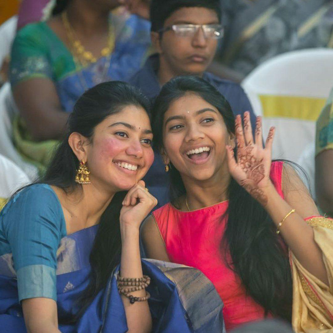Sai Pallavi and her Sister Pooja Kannan at one of their closest friends wedding ceremony!